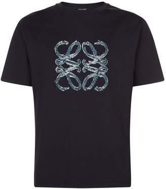 Loewe Logo Embroidered T-Shirt