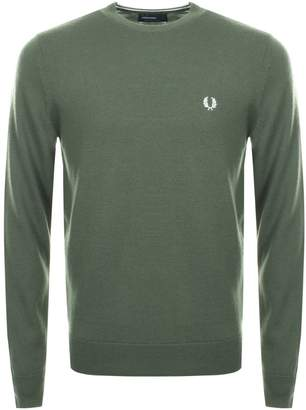 Fred Perry Classic Crew Neck Knit Jumper Green