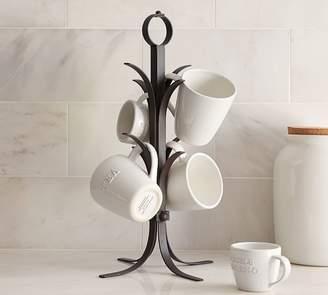Pottery Barn Vintage Blacksmith Mug Tree