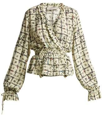 Preen Line Verena Vine Print Blouse - Womens - Ivory Multi