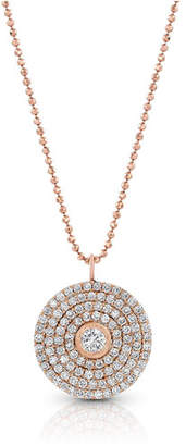 Dominique Cohen 18k Rose Gold Mosaic Diamond Pendant Necklace (Large)