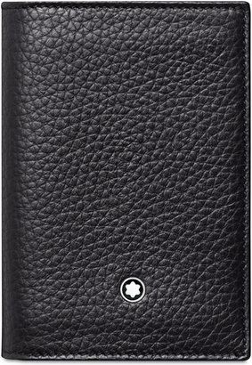 Montblanc Men's Meisterstück Black Leather Business Card Holder 113310 $190 thestylecure.com