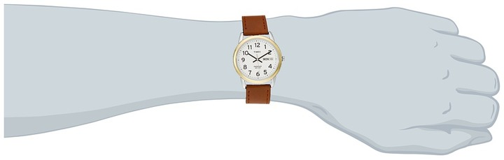 Timex Easy Reader Brown Leather Watch #T20011 Watches