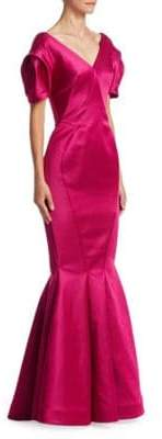Zac Posen Balloon Sleeve Gown
