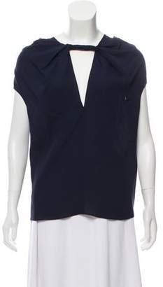 Derek Lam Silk Cap-Sleeved Blouse