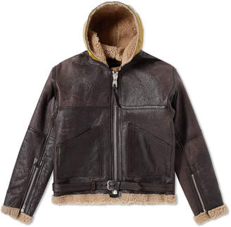 Nigel Cabourn Authentic Hand-Painted Dropzone Sheepskin Jacket