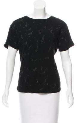 R 13 Short Sleeve Printed Top