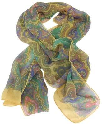 Albert Nipon MultiColor Paisley Print Silk Scarf $68.99 thestylecure.com