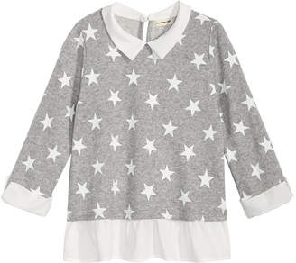 Monteau Layered-Look Star-Print Top, Big Girls
