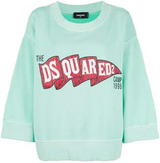 DSQUARED2 logo patch sweatshirt