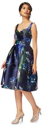 Debut Navy 'Hydrangea Bouquet' Knee Length Prom Dress