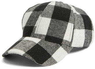 Women's Bp. Buffalo Check Baseball Cap - Black $25 thestylecure.com