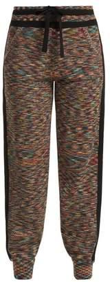 Missoni Side Stripe Cashmere Track Pants - Womens - Black Multi