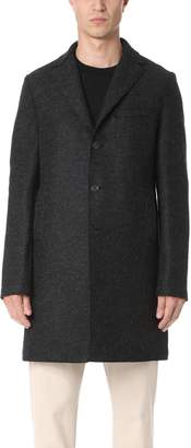 Harris Wharf London Pressed Wool Boxy Coat