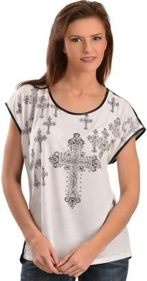 Wrangler Women's Rock 47 Cross Graphic Short Sleeve Top