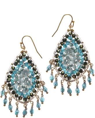 Nakamol Design Crystal Bead Drop Earrings