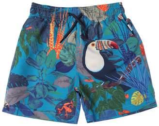 Paul Smith Jungle Print Nylon Swim Shorts