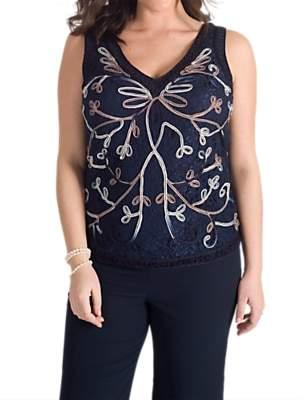 chesca Chesca Cornelli Embroidered Lace Cami