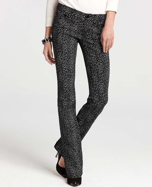 Ann Taylor Winter Leopard Print Modern Slim Denim Jeans