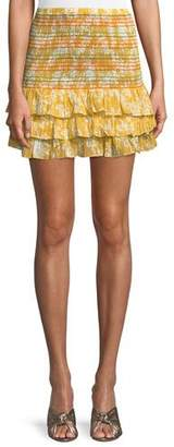 Tularosa Drea Smocked Ruffle Mini Skirt