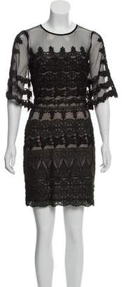 Nicole Miller Lace Mini Dress