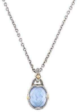 Judith Ripka Mother of Pearl Doublet Contempo Pendant Necklace