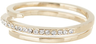 Judith Jack 10K Gold Plated Sterling Silver Wrap Band Pave Crystal Ring - Size 8 $55 thestylecure.com