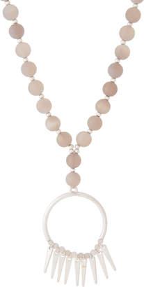 Schiff Marlyn Silver-Tone & Grey Quartz Circle Pendant Necklace