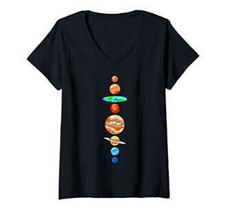 Womens Flat Earth Society Shirt V-Neck T-Shirt