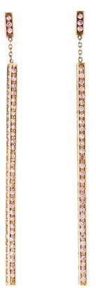 Mimi So 18K Pink Sapphire Stick Earrings