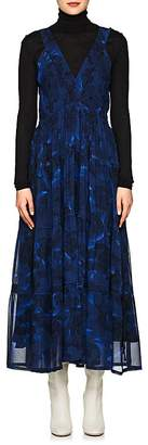 Proenza Schouler Women's Peony-Print Silk Midi-Dress