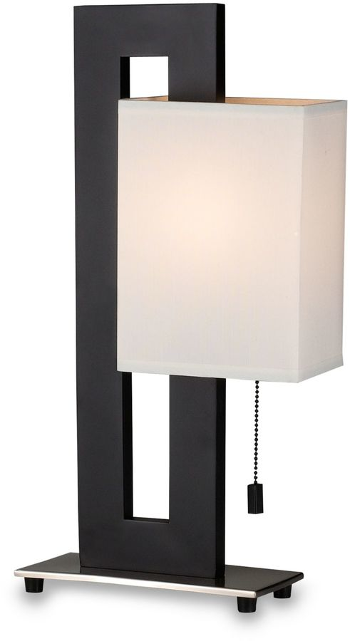 Bed Bath & Beyond Modern Black Table Lamp with White Shade