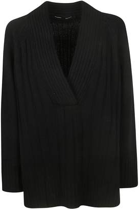 Proenza Schouler Oversized Knit Deep V-neck Sweater