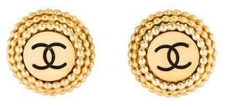 Chanel CC Logo Clip-On Earrings
