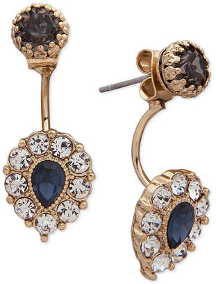 lonna & lilly Gold-Tone Crystal Jacket Earrings