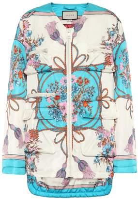 Gucci Floral-printed gabardine jacket