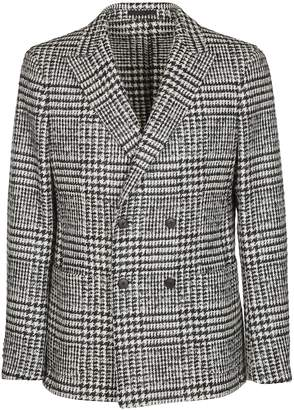 Ermenegildo Zegna Checked Double Breasted Blazer
