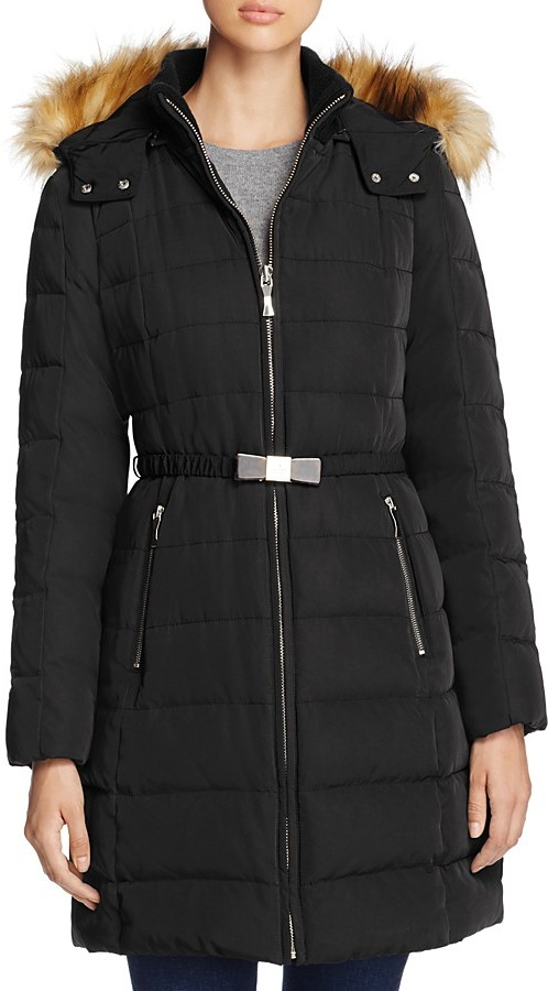 Kate Spadekate spade new york Bow Buckle Belted Down Coat