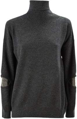 Fabiana Filippi Grey Merino Wool Blend Sweater.