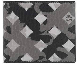 MCM Ottomar Bi-Fold Wallet Munich Lion Camo Grey