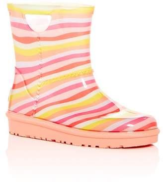 UGG Girls' Rahjee Rainbow Mural Rain Boots - Walker, Toddler