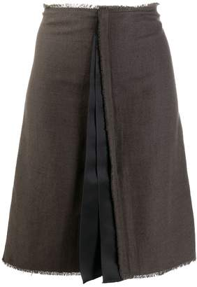 Lanvin Pre-Owned 2000's pleated detail A-line skirt