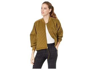 BB Dakota Girl Friday Quilted Bomber Jacket with Rib Trim