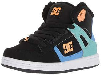 DC Boys' Pure HIGH-TOP WNT Skate Shoe Black/White