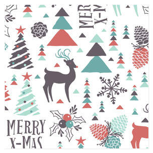 Merry Nature X-Mas Self-Launch Wrapping Paper