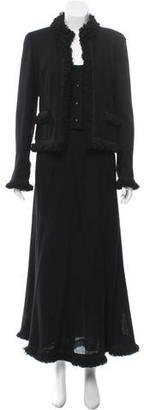 Chanel Wool Three-Piece Skirt Suit $730 thestylecure.com