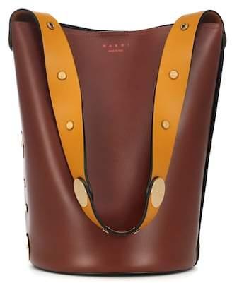 Marni Studded leather shoulder bag