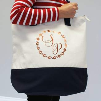 aae6798981d8 at Notonthehighstreet.com · Sparks And Daughters Personalised Monogram Canvas  Tote Bag
