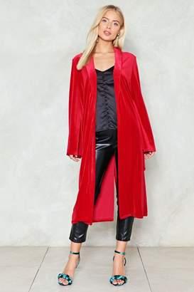Nasty Gal Long Story Short Velvet Kimono