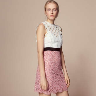 Sandro Two-tone lace dress with open back